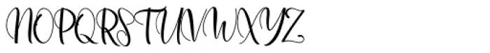 Agnesia Regular Font UPPERCASE