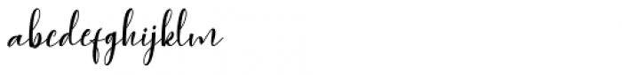 Agnesia Regular Font LOWERCASE