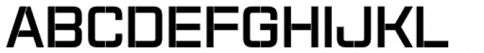 Aguda Stencil 1 Black Font UPPERCASE