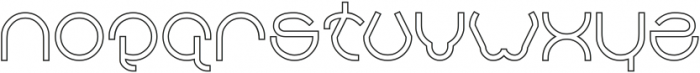 AHA EXPERIENCE-Hollow otf (400) Font LOWERCASE
