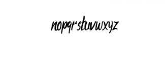 AharonRegular.otf Font LOWERCASE