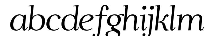 Ahellya Italic Font LOWERCASE