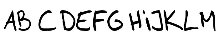 AhnbergHand Font UPPERCASE