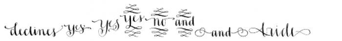 Ahra Hand Font UPPERCASE