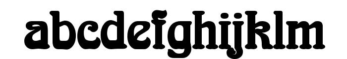 Aidan Thin Bold Font LOWERCASE