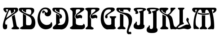 Aidan Thin Normal Font UPPERCASE