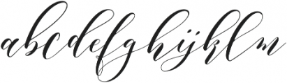 Aidan otf (400) Font LOWERCASE