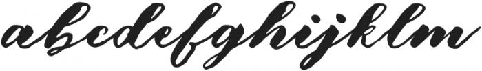 Aidercy Brush otf (400) Font LOWERCASE