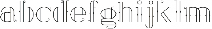 Ailerons otf (400) Font LOWERCASE