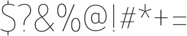 Ainslie Sans otf (100) Font OTHER CHARS