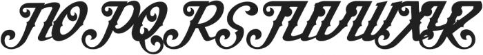 Aisha Script Swash Regular ttf (400) Font UPPERCASE