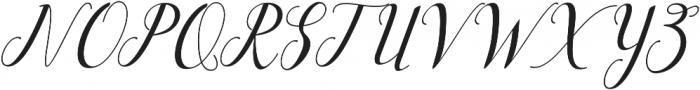 aiguha slant Regular ttf (400) Font UPPERCASE