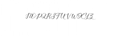Aisyah Preview Font UPPERCASE