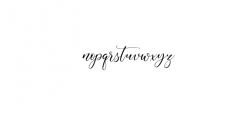 Aisyah Preview Font LOWERCASE