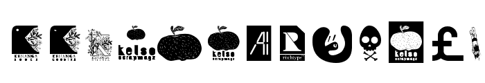 AI kelso D   is dingbat Font UPPERCASE