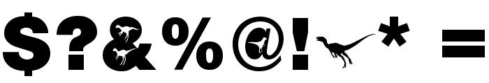 AIDino-Heavy Font OTHER CHARS