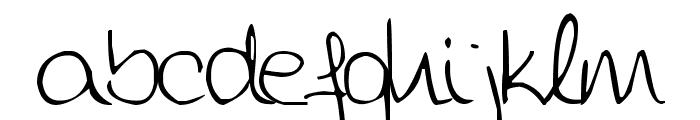 Aida Garmo - Scrap Rounded Font LOWERCASE