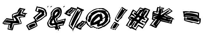 Aikasiirtyma Font OTHER CHARS
