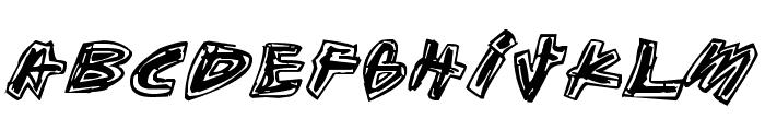 Aikasiirtyma Font UPPERCASE