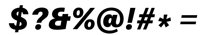 Aileron Black Italic Font OTHER CHARS