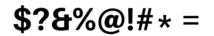 Aileron Bold Font OTHER CHARS