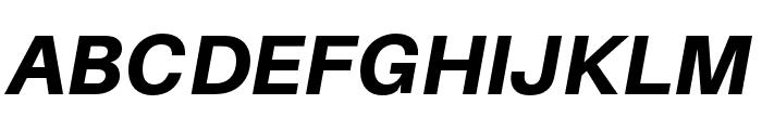 Aileron Heavy Italic Font UPPERCASE