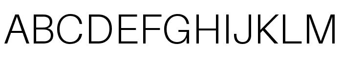 Aileron Light Font UPPERCASE