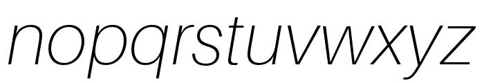 Aileron Thin Italic Font LOWERCASE