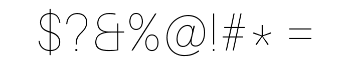 Aileron UltraLight Font OTHER CHARS