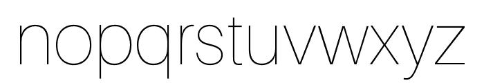 Aileron UltraLight Font LOWERCASE