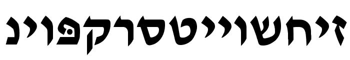 Ain Yiddishe Font Modern Font LOWERCASE