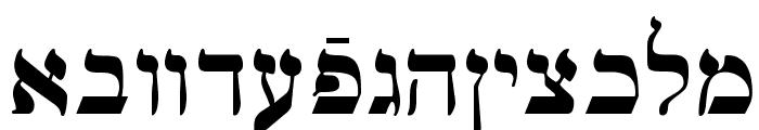 Ain Yiddishe Font Traditional Font LOWERCASE