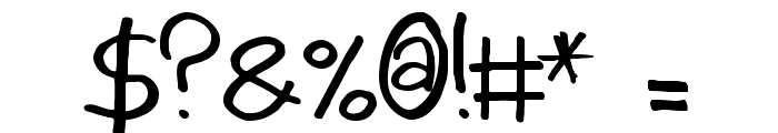 AintNothingFancy Font OTHER CHARS