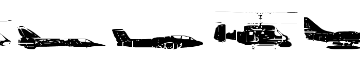 Air Force Font LOWERCASE