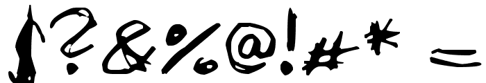Aircloud Font OTHER CHARS