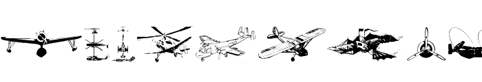 Aircraft Font OTHER CHARS