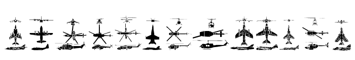 Aircraft2 Font LOWERCASE
