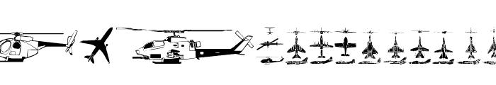 Aircraft Font UPPERCASE