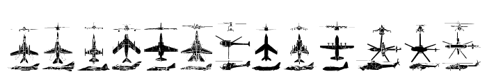 Aircraft Font LOWERCASE