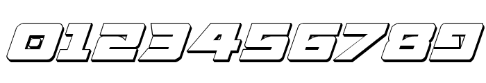 Aircruiser 3D Italic Font OTHER CHARS