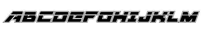 Aircruiser Academy Laser Italic Font UPPERCASE