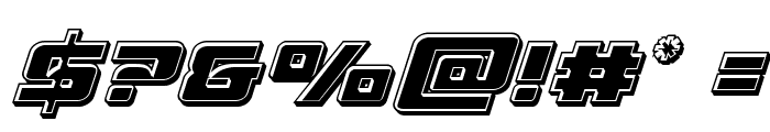 Aircruiser Bevel Italic Font OTHER CHARS