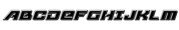 Aircruiser Bevel Italic Font UPPERCASE