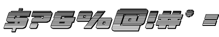 Aircruiser Chrome Italic Font OTHER CHARS