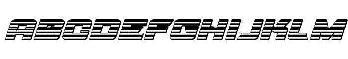 Aircruiser Chrome Italic Font LOWERCASE