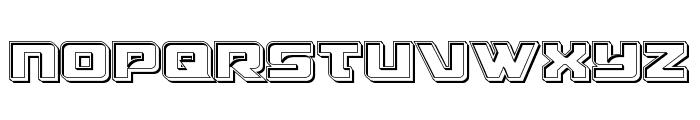 Aircruiser Engraved Font UPPERCASE