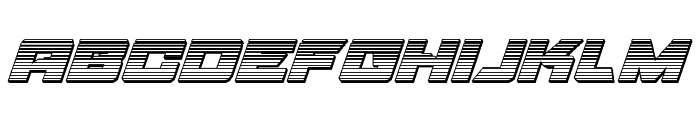 Aircruiser Gradient 3D Italic Font LOWERCASE
