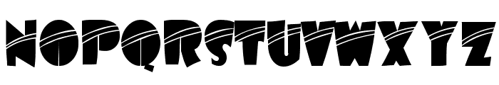 Airmole Stripe Font UPPERCASE