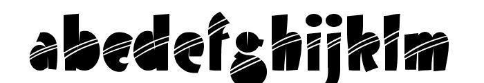 Airmole Stripe Font LOWERCASE