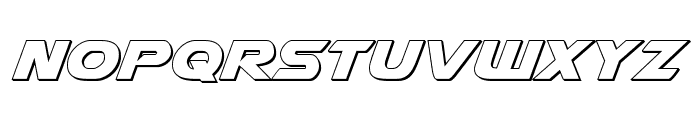 Airstrike 3D Regular Font LOWERCASE